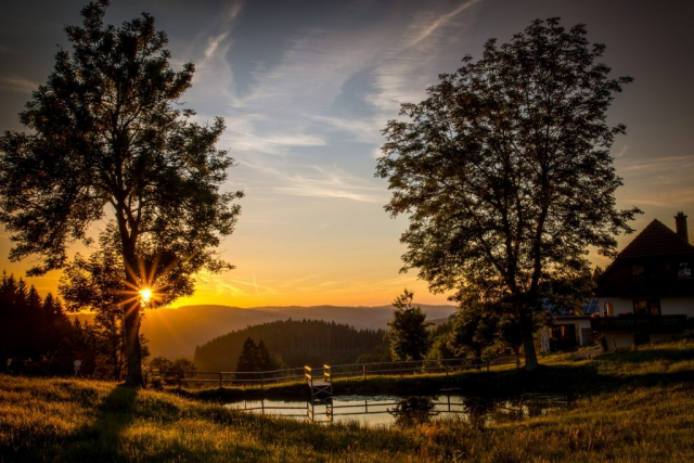 Sonnenuntergang Mühlenbach